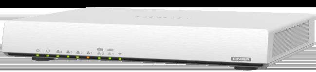 QNAP QHora 301W cote - QHora-301W, le premier routeur de QNAP : Wi-Fi 6, 10 Gbit/s, SD-WAN...