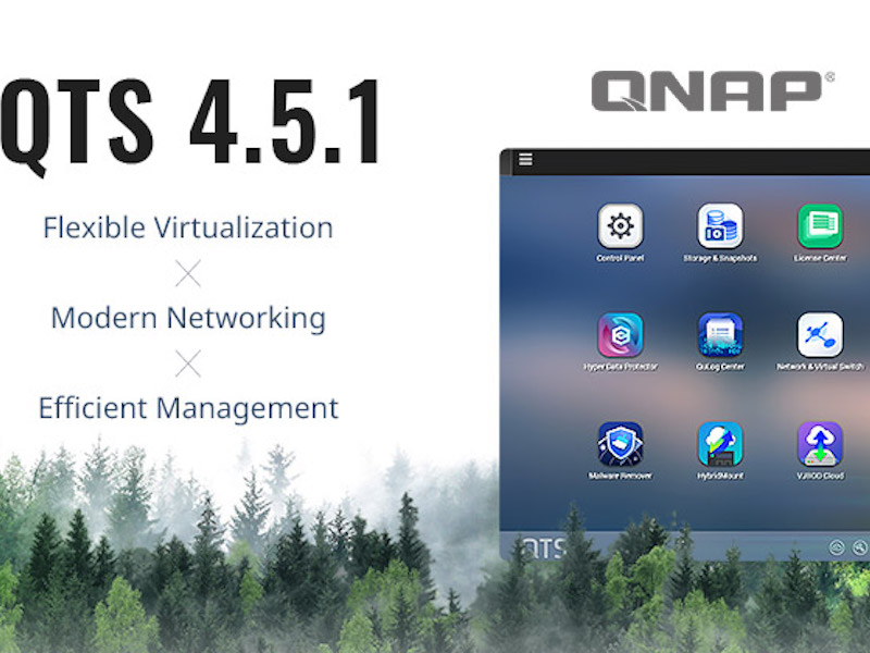 QNAP QTS 4.5.1 - QNAP met à jour ses NAS avec QTS 4.5.1 : Wi-Fi 6, migration de VM, TL SAS...