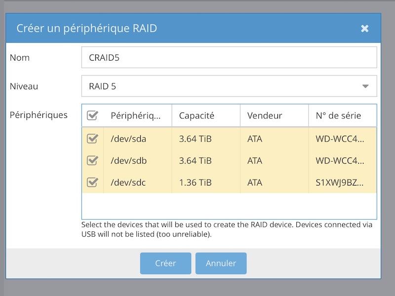 RAID 5 OMV - NAS - openmediavault (Tuto et prise en main)