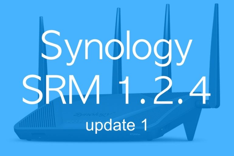 SRM 124 update 1 770x513 - Synology SRM 1.2.4 update 1