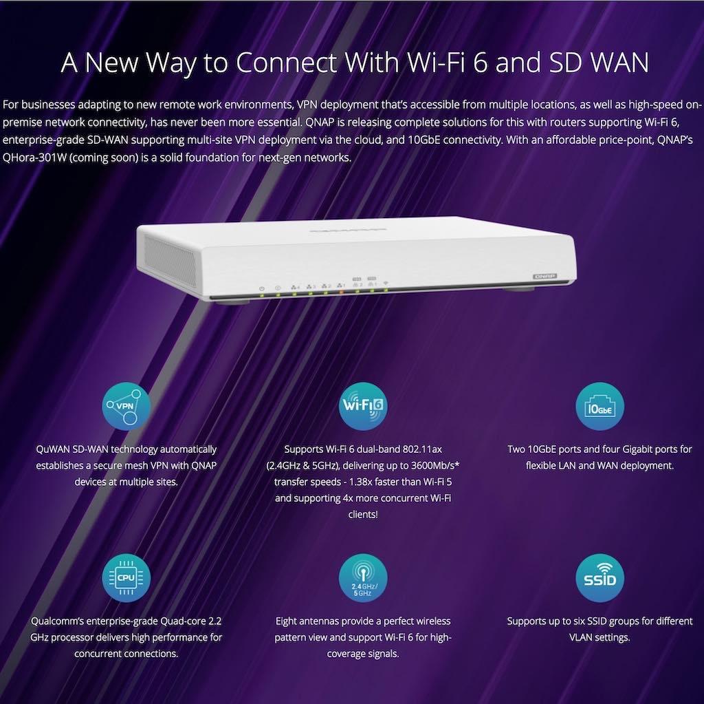 new way qhora - QHora-301W, le premier routeur de QNAP : Wi-Fi 6, 10 Gbit/s, SD-WAN...
