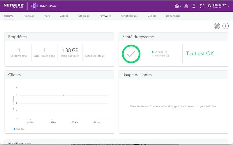 Capture insgiht - Test du kit Netgear Orbi Pro Wi-Fi 6