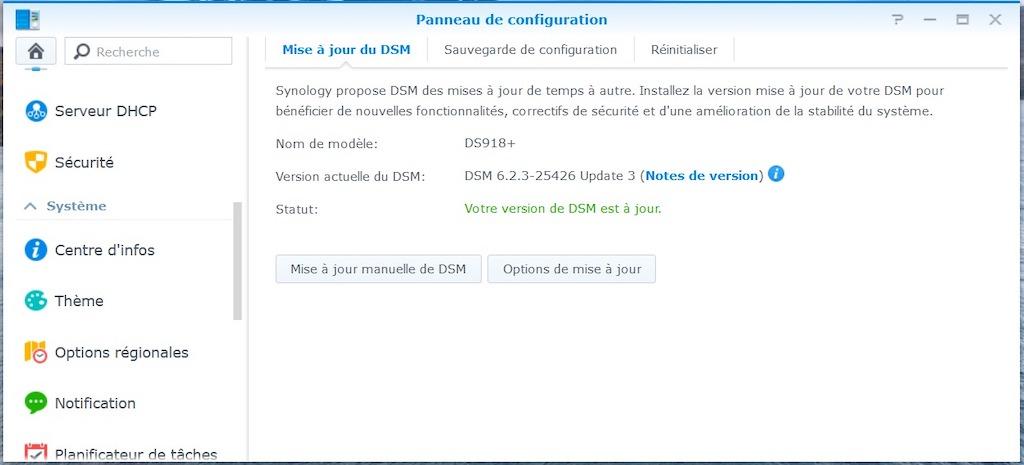 Synology DSM 6.2.3u3 - NAS - Synology DSM 6.2.3 update 3 : avalanche de corrections...
