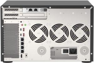TVS h1288X back 300x201 - NAS - QNAP lance les TVS-h1288X et TVS-h1688X : Intel Xeon, 10 Gbit/s, SSD NVMe...