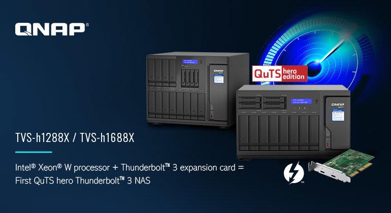 TVS hx88X 770x420 - NAS - QNAP lance les TVS-h1288X et TVS-h1688X : Intel Xeon, 10 Gbit/s, SSD NVMe...
