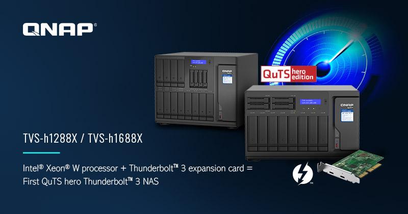 TVS hx88X - NAS - QNAP lance les TVS-h1288X et TVS-h1688X : Intel Xeon, 10 Gbit/s, SSD NVMe...