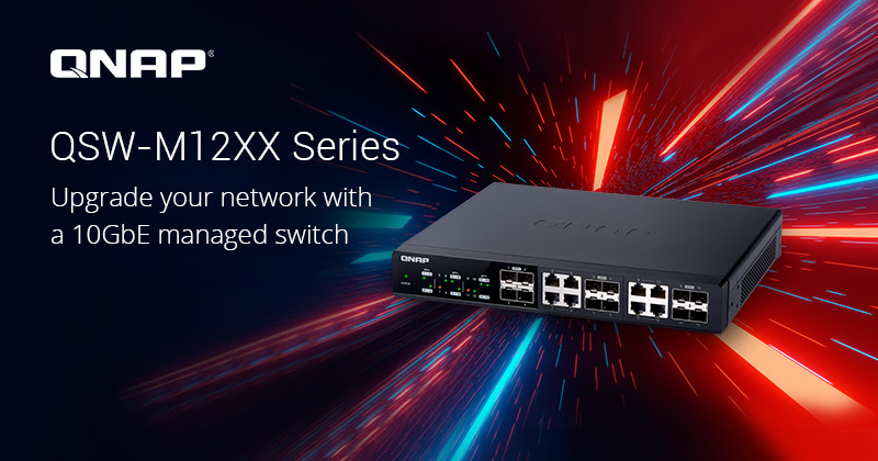 QNAP QSW M12XX 2020 - QNAP lance 3 switches administrables Multi-Gig : QSW-M1204-4C, QSW-M1208-8C et QSW-M804-4C