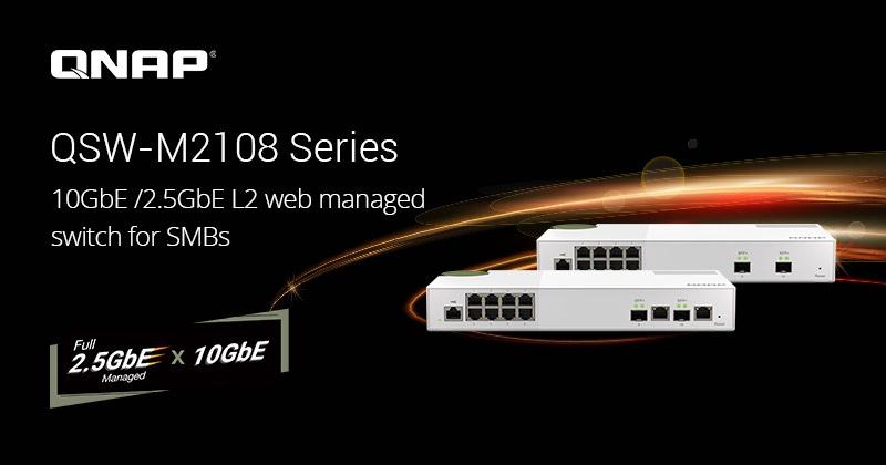 QNAP QSW M2108 - QNAP lance (encore) de nouveaux switches QSW-M2108-2C et QSW-M2108-2S