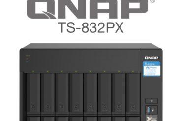 QNAP TS 832PX 370x247 - QNAP TS-832PX : NAS 8 baies, processeur Quad Core, réseaux 2,5 Gbit/s et 10 Gbit/s