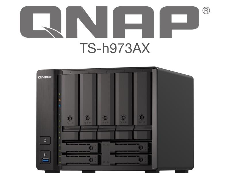QNAP TS h973AX - QNAP TS-h973AX : NAS 9 baies, processeur Quad Core, réseau 10GbE et 2,5GbE