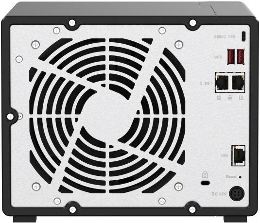 QNAP TS h973AX arriere - QNAP TS-h973AX : NAS 9 baies, processeur Quad Core, réseau 10GbE et 2,5GbE