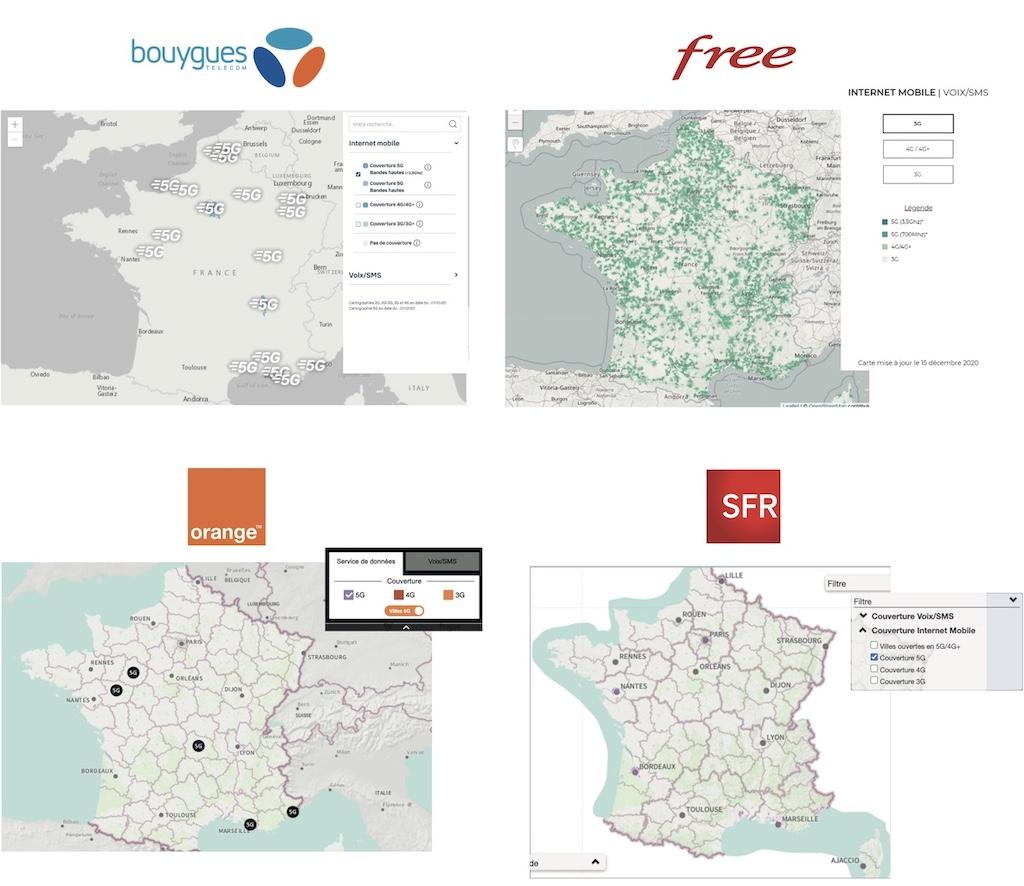 couverture 5G 2020 - 5G - Free revendique le plus grand réseau... sans surcoût pour le consommateur