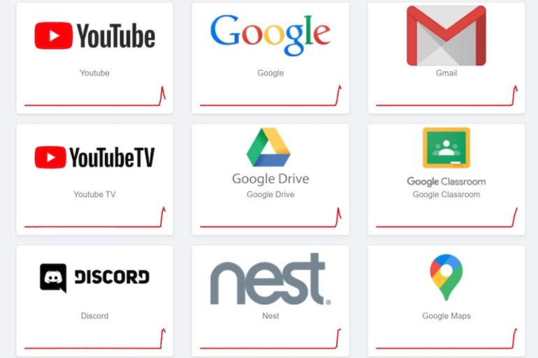 panne google 2020 770x513 - Problèmes chez Google  (Gmail, YouTube, Maps…)