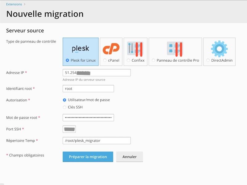 plesk migrator - Plesk - Migrer facilement de serveur