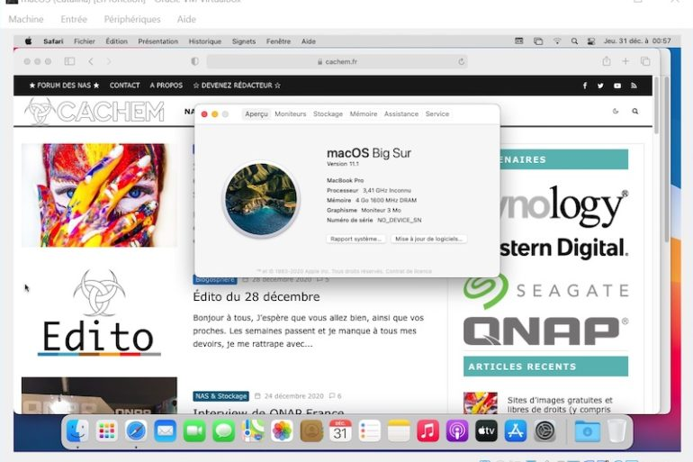 virtualbox Big Sur 2021 770x513 - VirtualBox - macOS Big Sur sur votre PC Windows