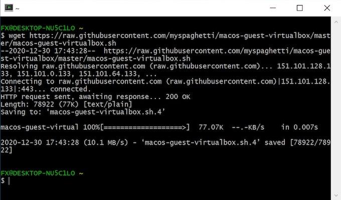 wget cygwin 2021 - VirtualBox - macOS Big Sur sur votre PC Windows