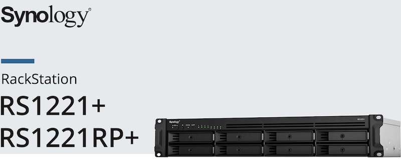Synology RS1221 RS1221RP - Synology RS1221(RP)+ : NAS rackable avec processeur Ryzen V1500B