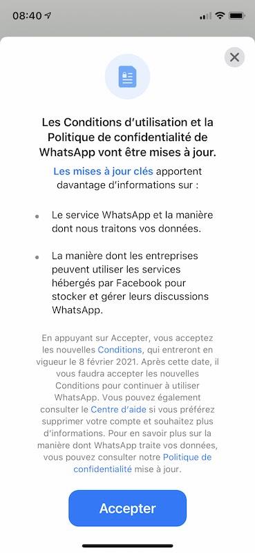 conditions whatsapp - Crise chez WhatsApp