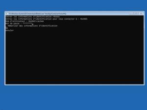 connexion credential 300x225 - Sauvegarder une image système de Windows sur un NAS Synology, QNAP... (Ghost)