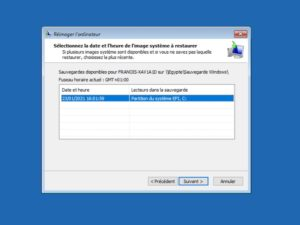 date heure restaurer win10 300x225 - Sauvegarder une image système de Windows sur un NAS Synology, QNAP... (Ghost)