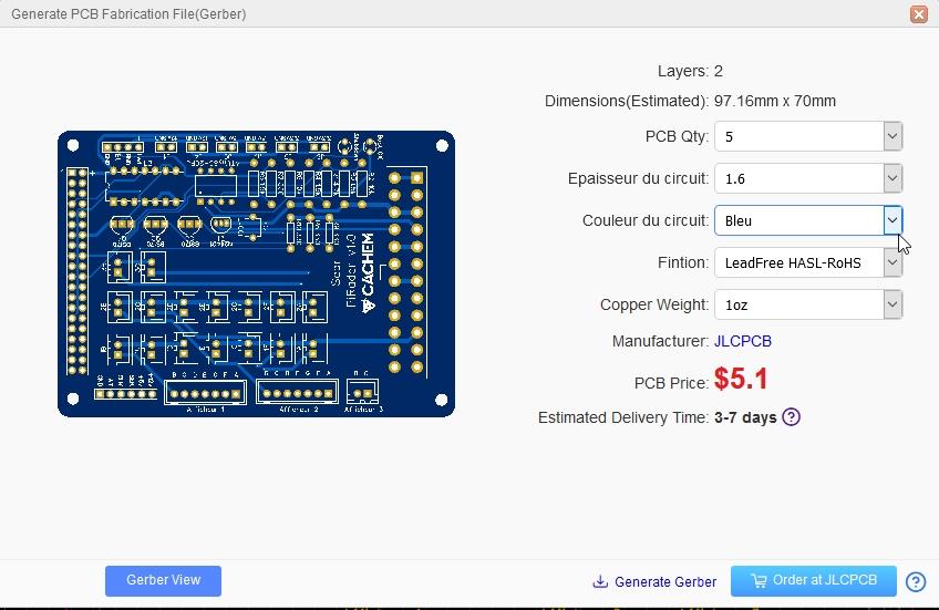 eda pcb 23 - Créer un circuit imprimé facilement avec EasyEDA et JLCPCB