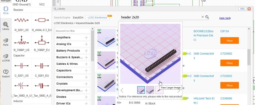 eda pcb 5 - Créer un circuit imprimé facilement avec EasyEDA et JLCPCB
