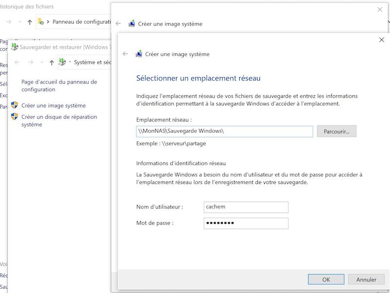 emplacement reseau image systeme 2021 - Sauvegarder une image système de Windows sur un NAS Synology, QNAP... (Ghost)