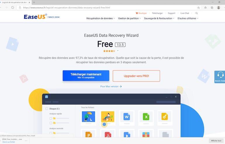 telecharger easeus data recovery Wizard 770x492 - EaseUS Data Recovery Wizard : récupérez jusqu'à 97,3% des données effacées