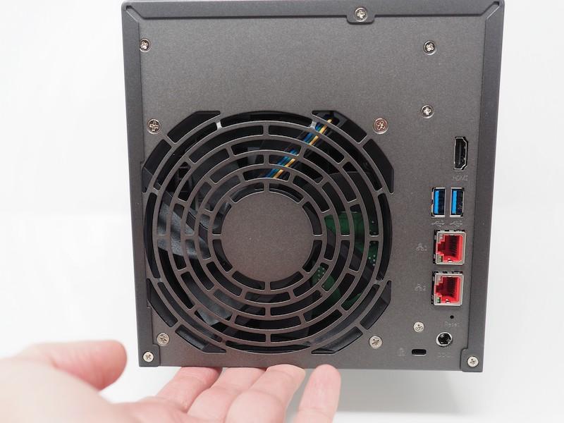 AS6604T back - NAS - Test ASUSTOR AS6604T : 4 baies et Multi-Gig