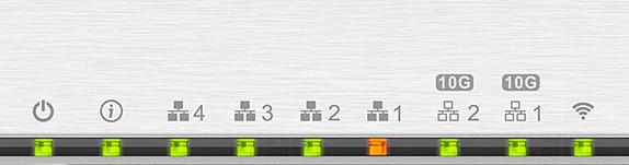 QHora LED 2021 - Test du QNAP QHora-301W : Wi-Fi 6, 2 ports 10 GbE, SD-WAN