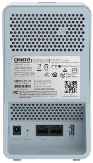 QMiro 201W arriere - QNAP QMiro-201W : Routeur mesh tri-bande, WiFi 5, SD-WAN