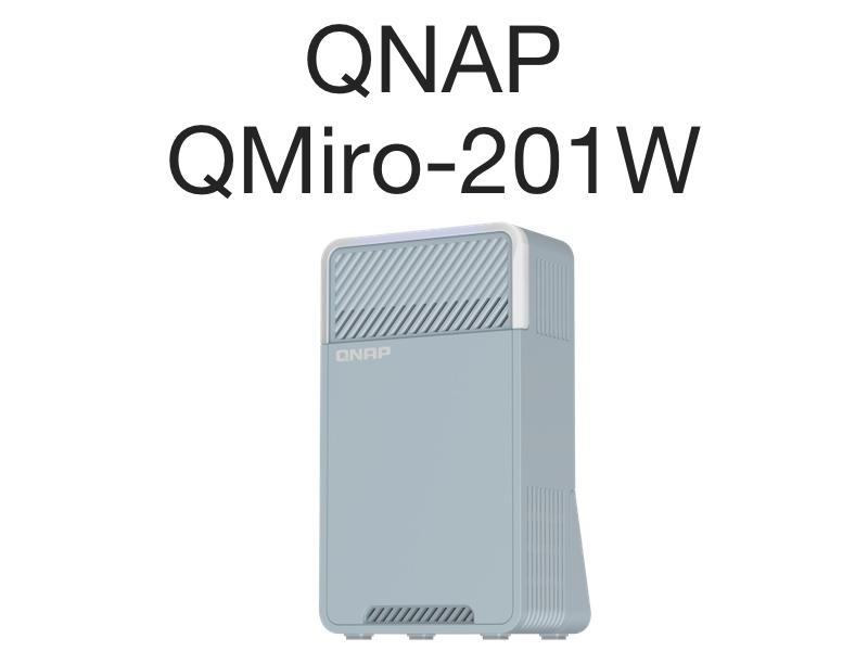 QNAP QMiro 201W - QNAP QMiro-201W : Routeur mesh tri-bande, WiFi 5, SD-WAN