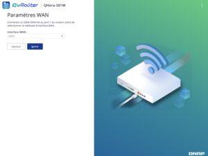 parametres WAN QRouter 300x225 - Test du QNAP QHora-301W : Wi-Fi 6, 2 ports 10 GbE, SD-WAN