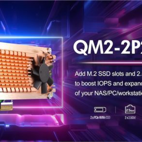 QNAP QM2 2P2G2T 2021 293x293 - QNAP QM2-2P2G2T : Carte réseau 2.5GbE avec emplacements SSD M.2
