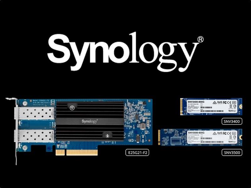 Synology E10G21 F2 E25G21 F2 SNV3400 SNV3500 - Synology annonce l'arrivée des E10G21-F2, E25G21-F2 et SNV3400, SNV3500