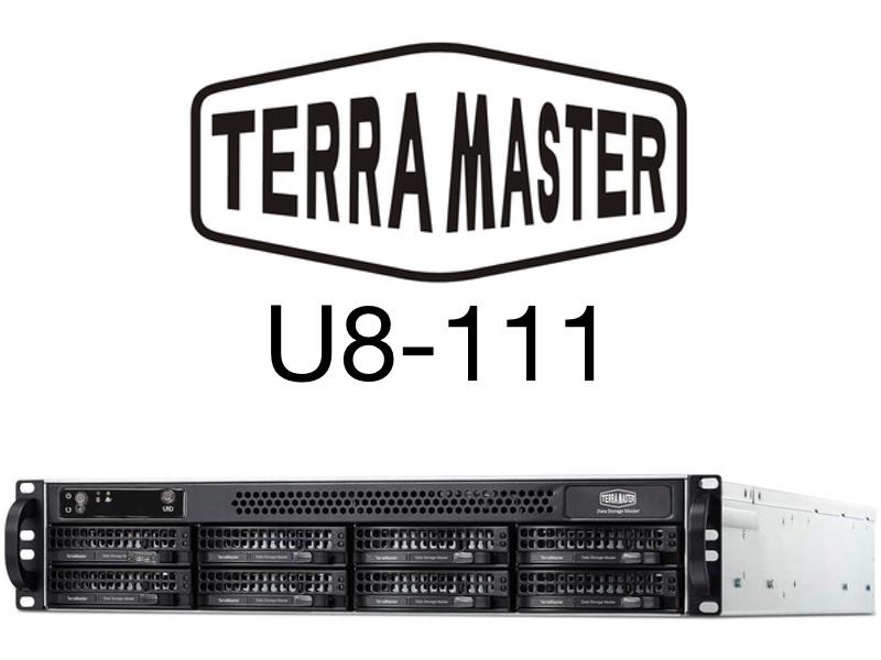 TerraMaster U8 111 - TerraMaster U8-111 : 8 baies rackable, 2U, 10 Gbit/s... 1099€