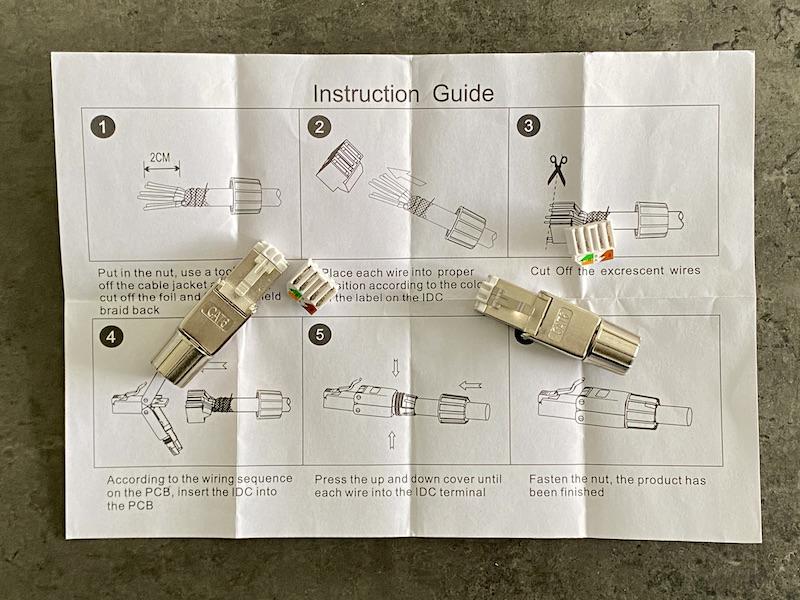 fiches guides RJ45 - Fabriquer un câble RJ45 sans outil