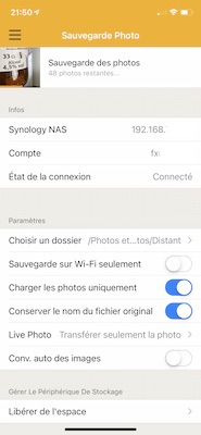 sauvegarde photos synology - Alternatives à Google Photos avec un NAS Synology