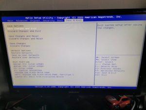 BIOS Save exit 300x225 - Mini PC industriel : Un serveur polyvalent à petit prix ?