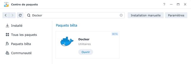 Centre de paquets Docker - NAS Synology - Installer Huginn avec Docker