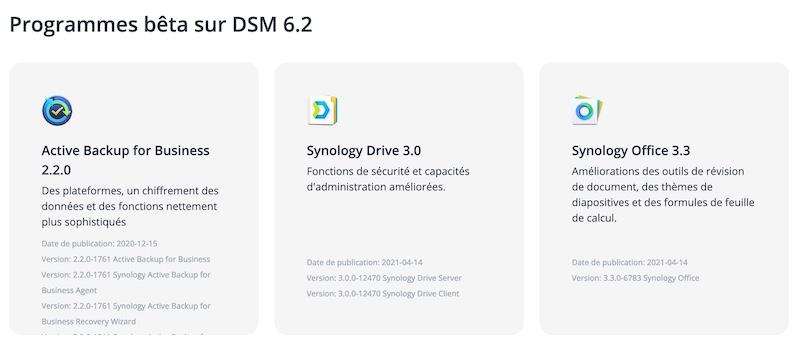 Drive office - NAS - Synology met à jour ses paquets pour DSM 6