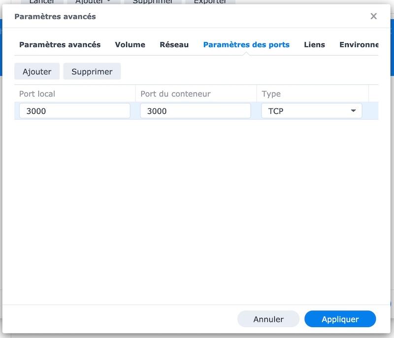 Huginn Synology 1 - NAS Synology - Installer Huginn avec Docker