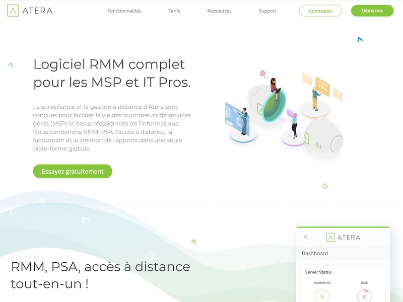 RMM ATERA 1 - Atera : application RMM simple et abordable