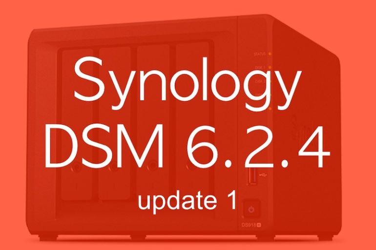 Synology DSM 6.2.4 update 1