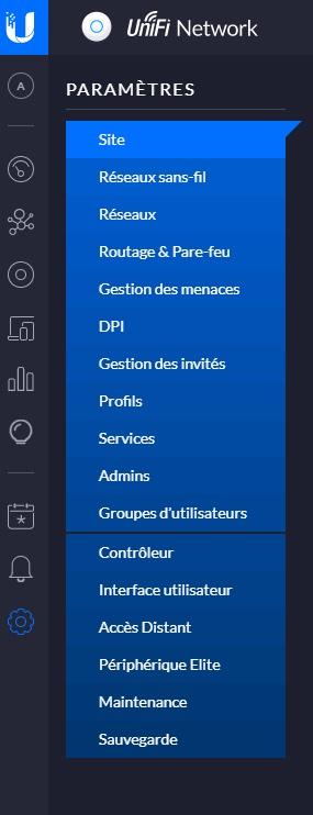 Unifi interface menu - Présentation Ubiquiti UniFi et son interface d'administration
