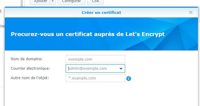 certificat lets encrypt - NAS Synology : Domaine, sous-domaine, Reverse-Proxy et HTTPS