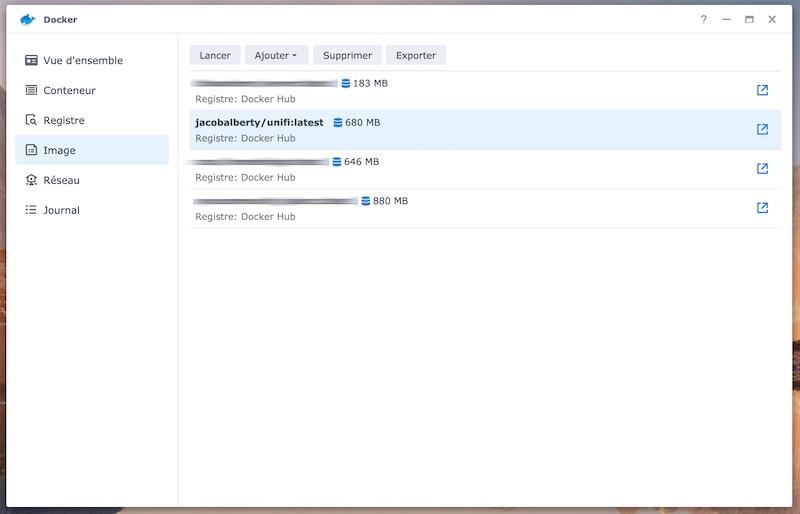 image docker - Installer UniFi Network Controller sur un NAS Synology en 5 minutes