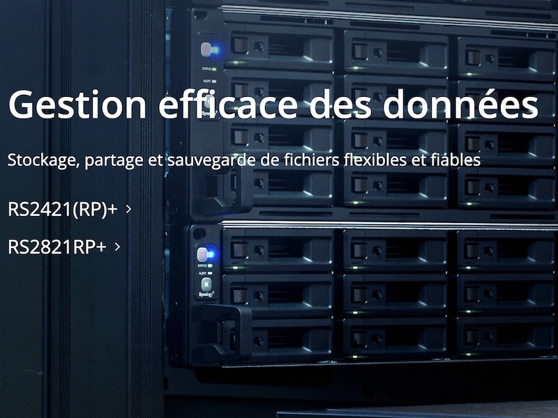 Synology RS2421RP RS2821RP - NAS - Synology annonce les RS2421(RP)+ et RS2821RP+