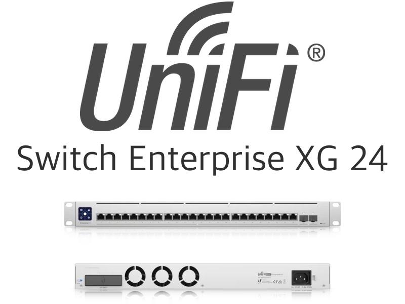 USW EnterpriseXG 24 - Ubiquiti UniFi Enterprise XG 24 : switch 24 ports 10 GbE RJ45 et 25 GbE SFP