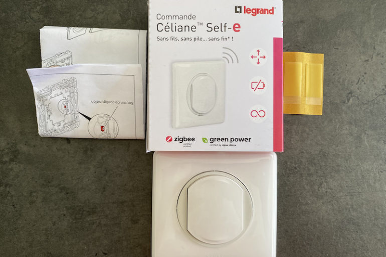 Celiane self e 770x513 - Legrand Céliane Self-e : sans fils, sans pile... mais pas sans intérêt